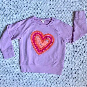 Crewcuts hearts crew neck sweatshirt- NWOT